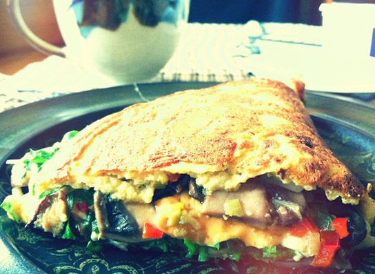Veganistische omelet
